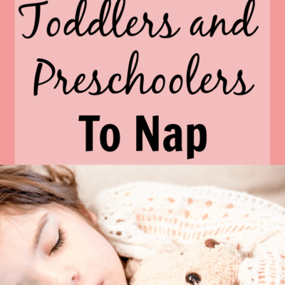 Napping tips for toddlers and preschoolers