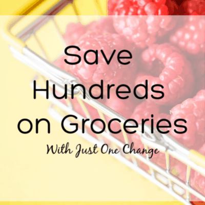 Save money on groceries with one simple change