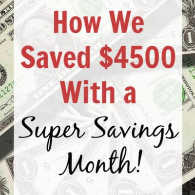 Use a No Spend Month to Save Money Fast