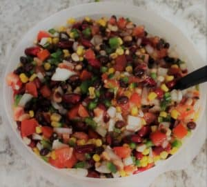 texas caviar recipe, three bean salsa