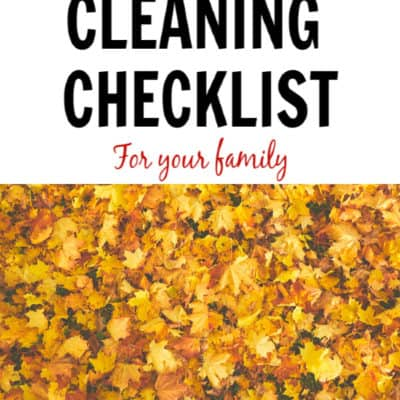 Fall cleaning checklist for your family