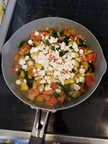 tomato and zuchinni
