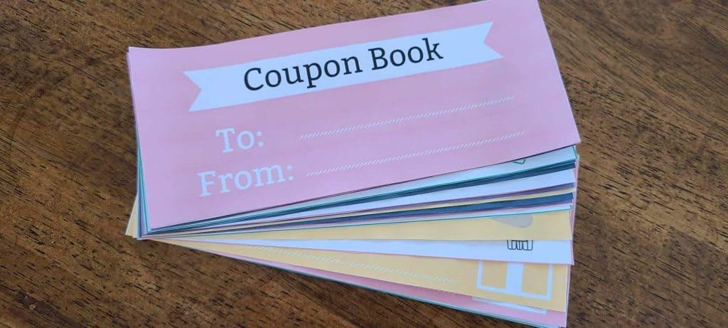 kids coupon book, printable coupon book, coupon book ideas for parents